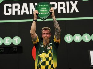 UNIBET WORLD GRAND PRIX 2017 CITY WEST HOTEL,DUBLIN,IRELAND PIC;LAWRENCE LUSTIG FINAL SIMON WHITLOCK V DARYL GURNEY SIMON WHITLOCK